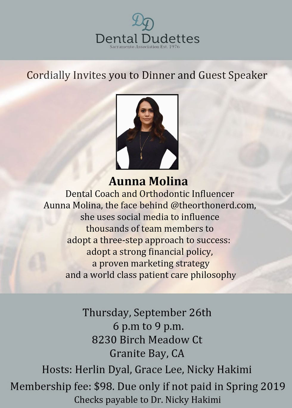 Dental Dudettes upcoming event with Aunna Molina - Dental Coach